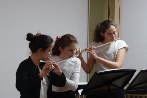 Dwarsfluit-trio Op De Zomerpresentatie